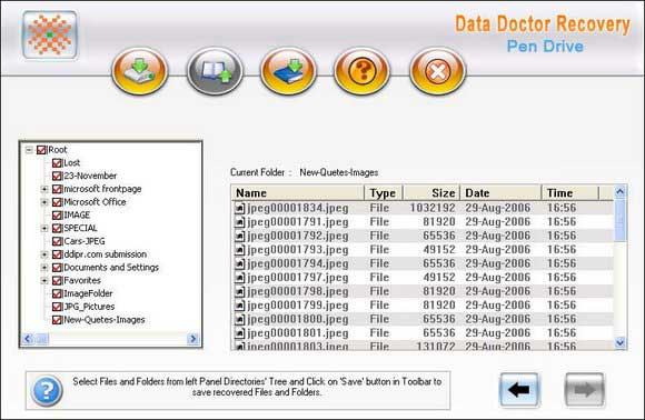 Restore Deleted USB Drive Data screen shot