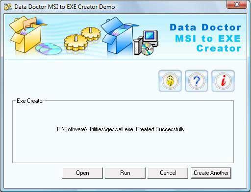 MSI Setup to EXE Creator screenshot