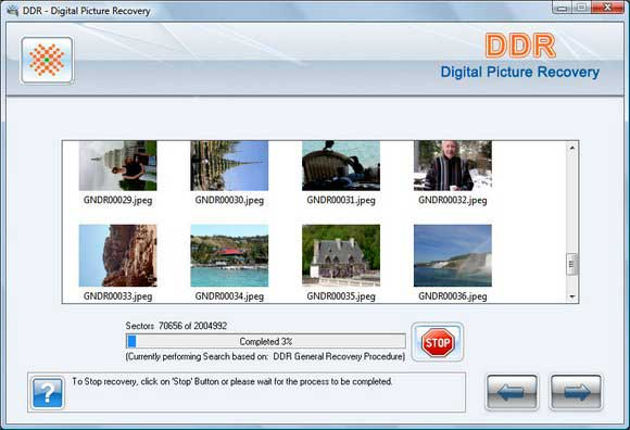 Digital Pictures Recovery screenshot