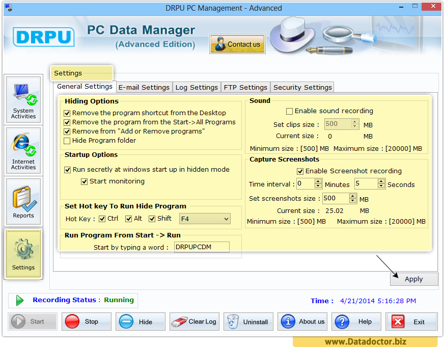 Keylogger Software - Advance