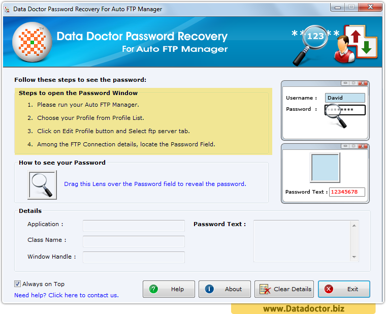 Password Recovery For Auto FTP Manager