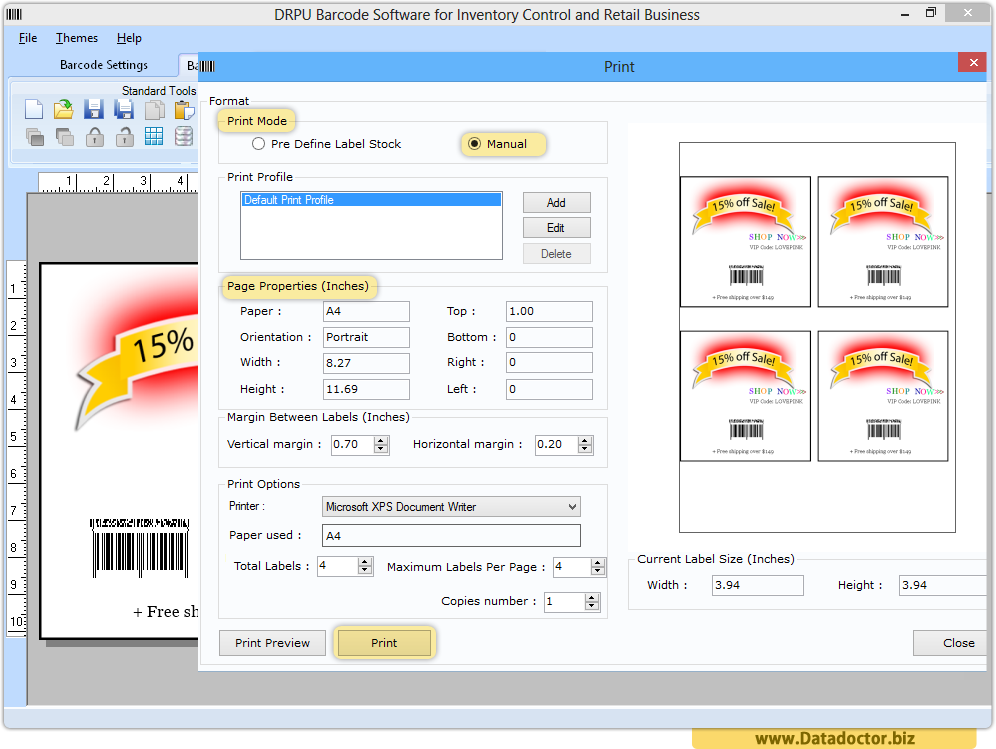 Barcode Label Maker - Inventory Control Business