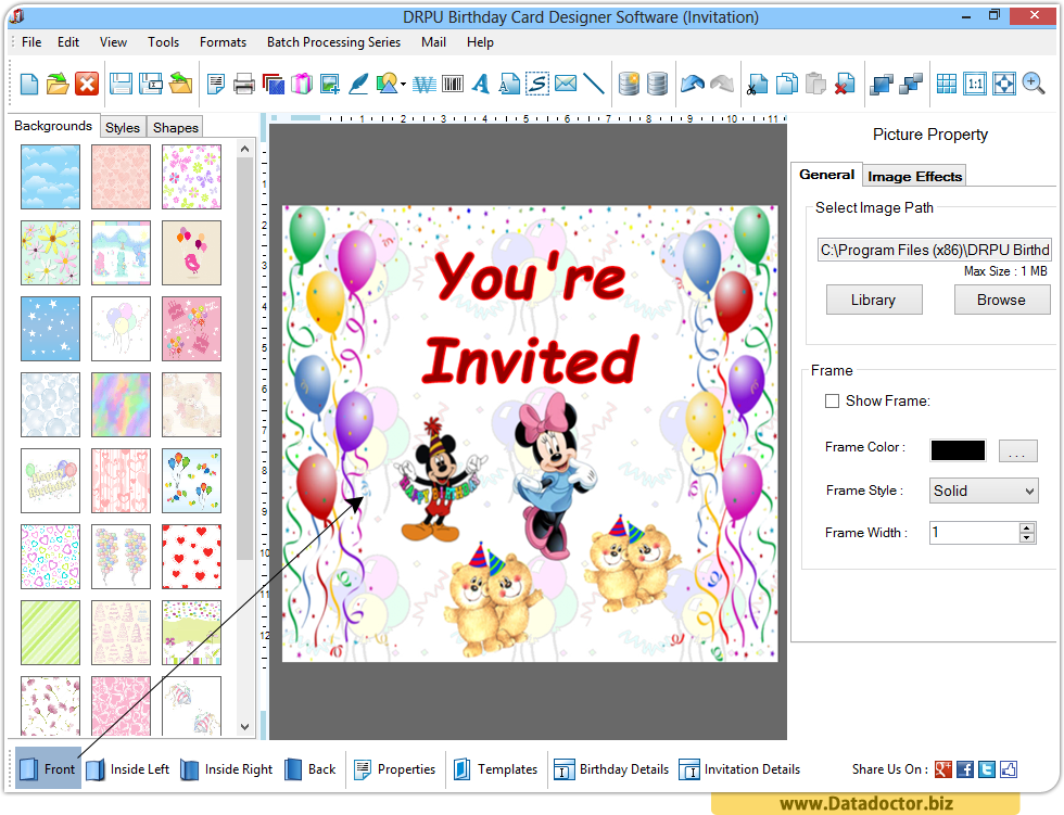 Birthday card maker software design funny greeting happy birthday