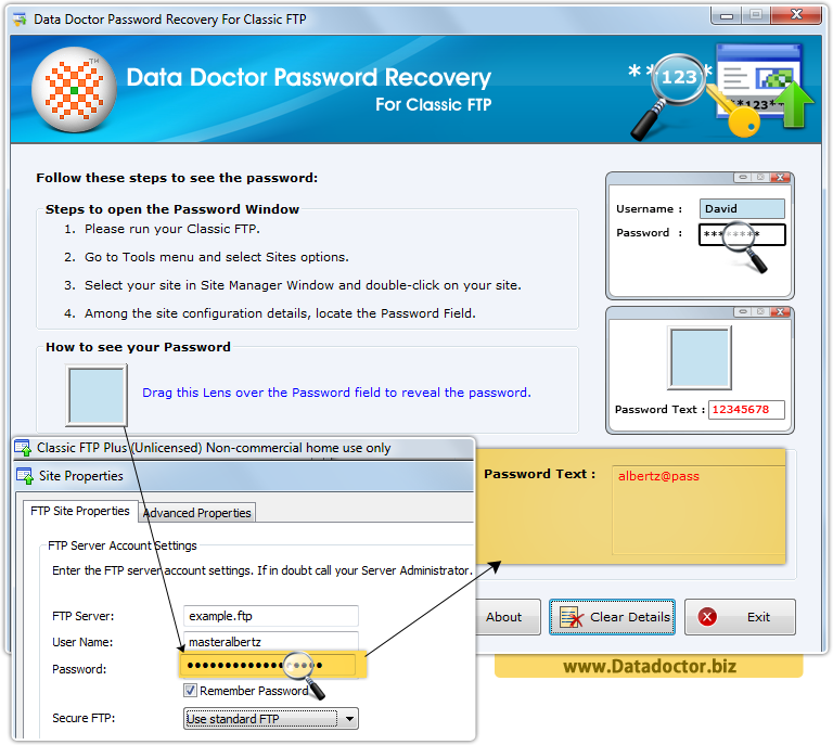 Data Doctor Password Recovery Software For Classic FTP