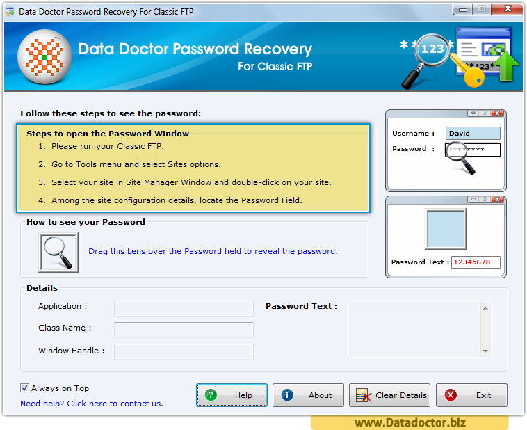 Password Recovery For Classic FTP