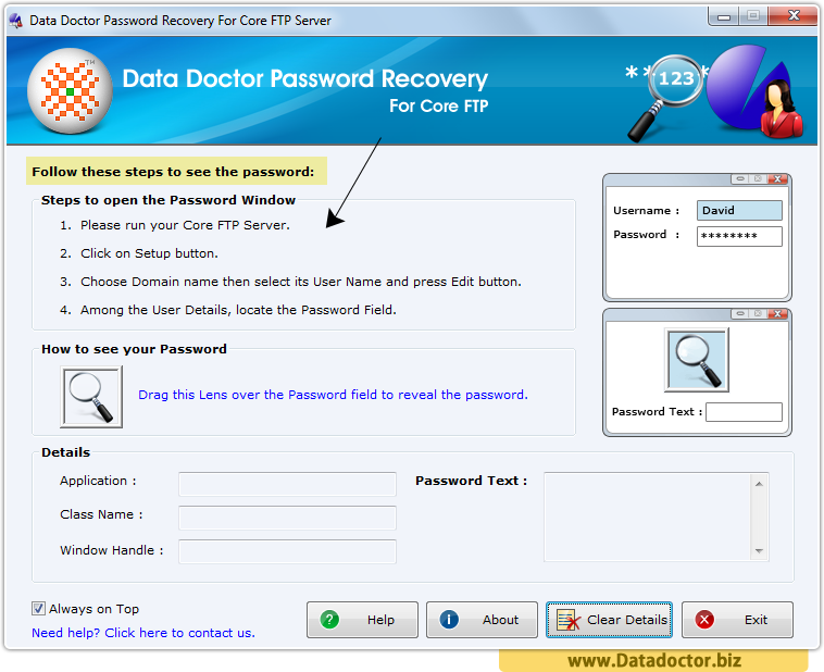 Password Recovery For Core FTP