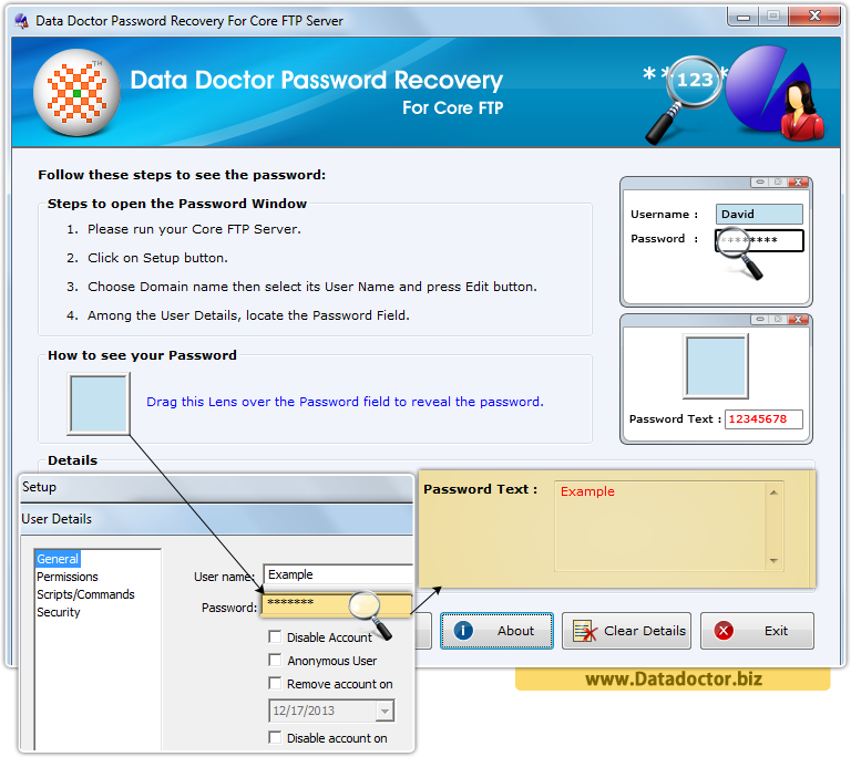 Data Doctor Password Recovery Software For Core FTP