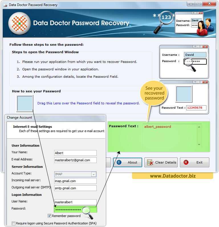 Password Recovery Application