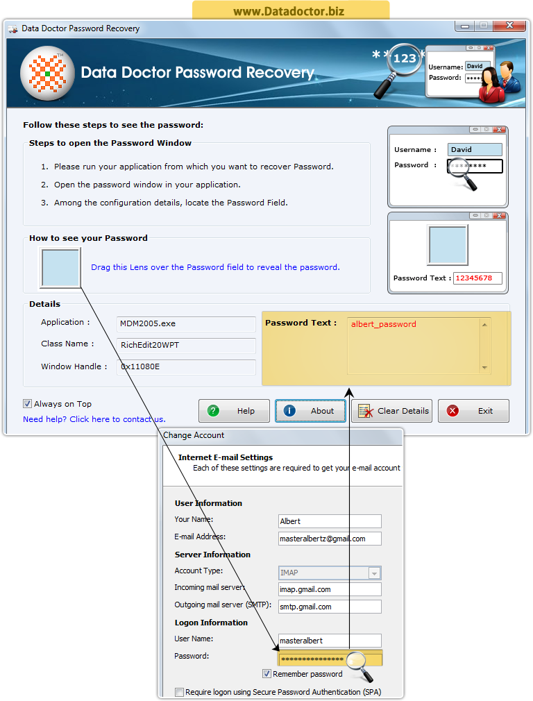 Data Doctor Password Recovery Software | recover missing