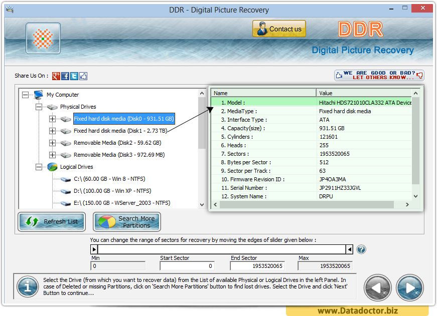 Digital Pictures Recovery Software