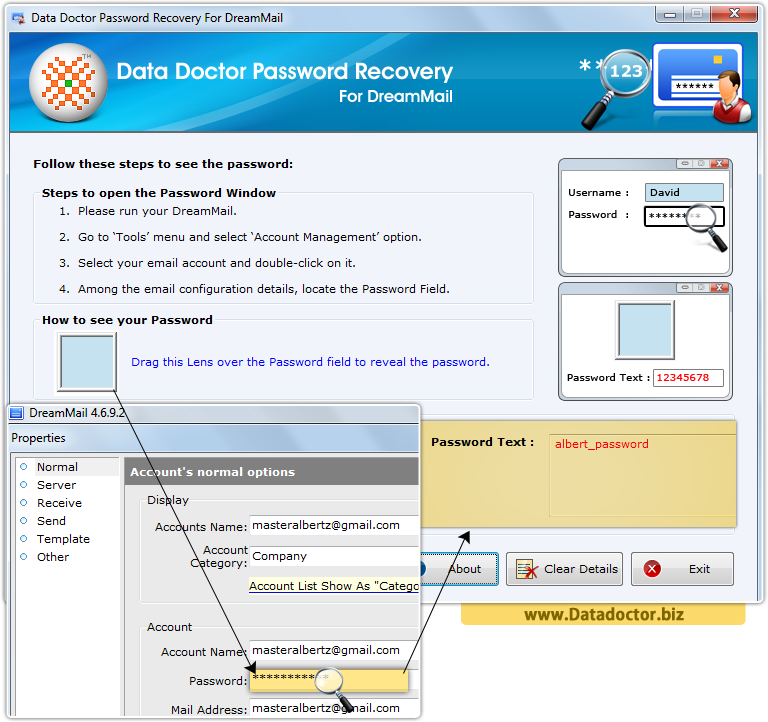Data Doctor Password Recovery Software For DreamMail