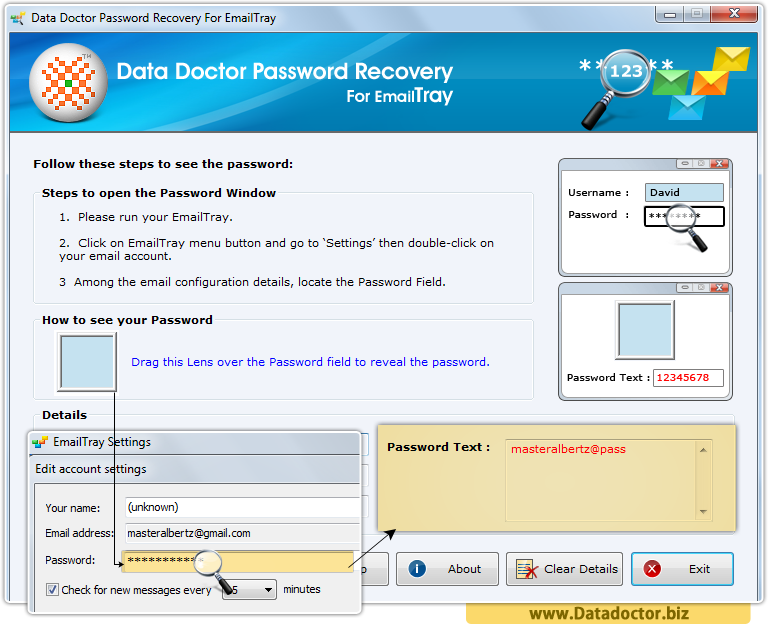 Data Doctor Password Recovery For EmailTray