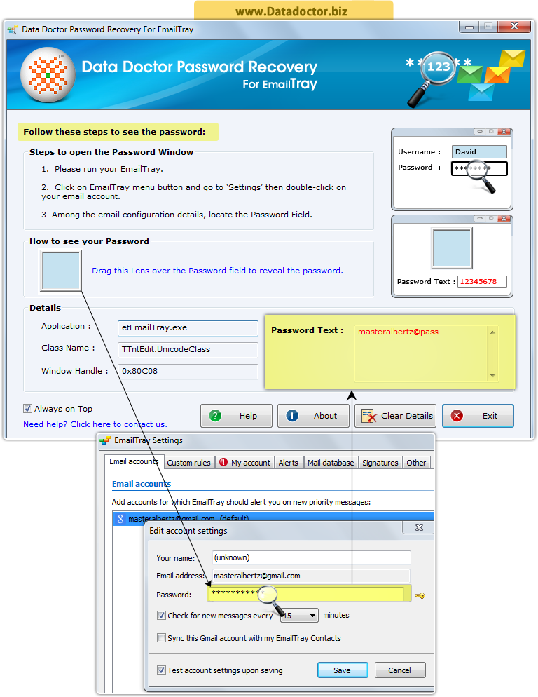 Password Recovery Software For EmailTray