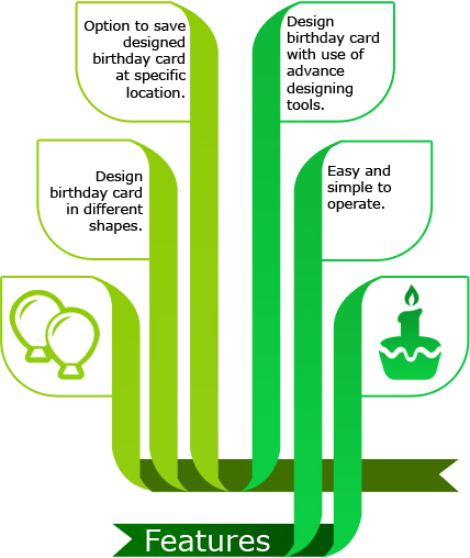 Birthday Cards Designing Software Features