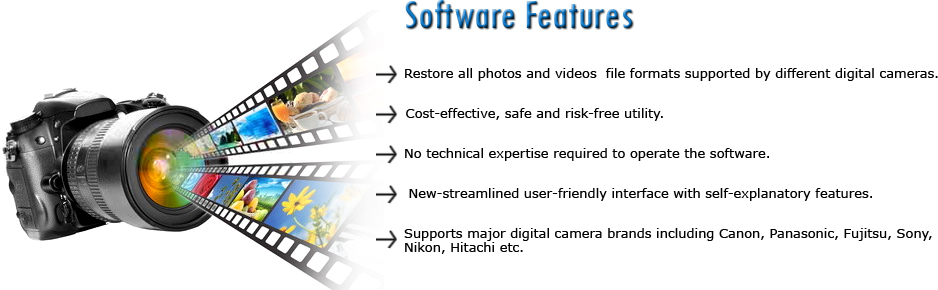 Digital Camera Data Recovery Software Features