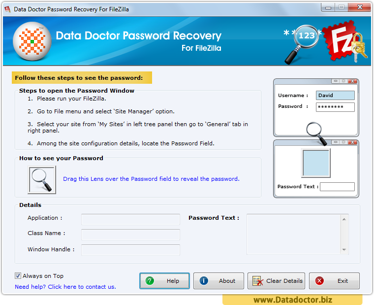 Password Recovery For FileZilla