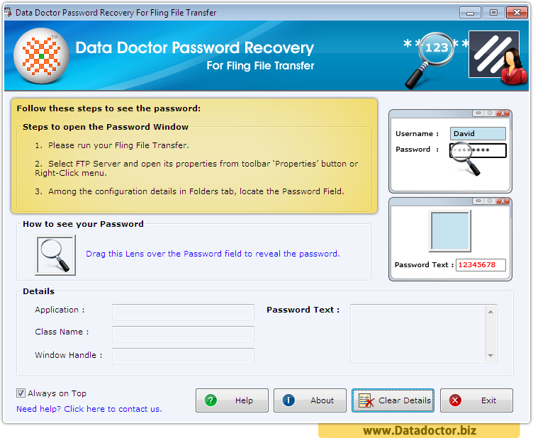 Password Recovery For Fling File Transfer