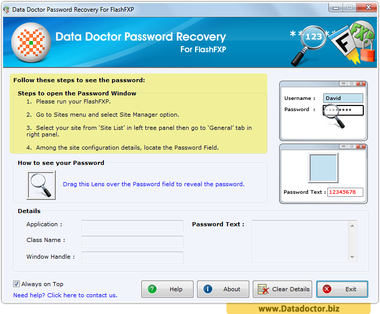 Password Recovery For FlashFXP