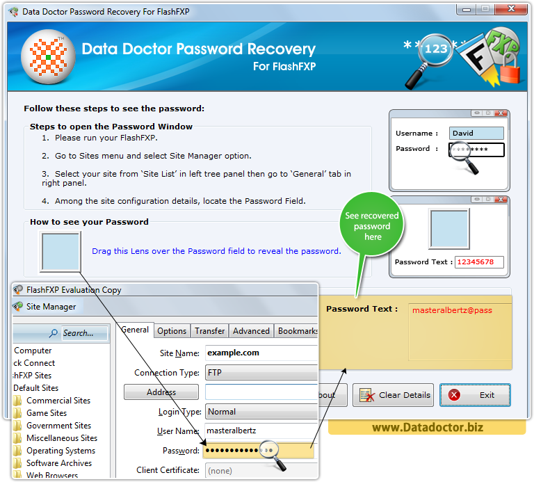 Data Doctor Password Recovery Software For FlashFXP
