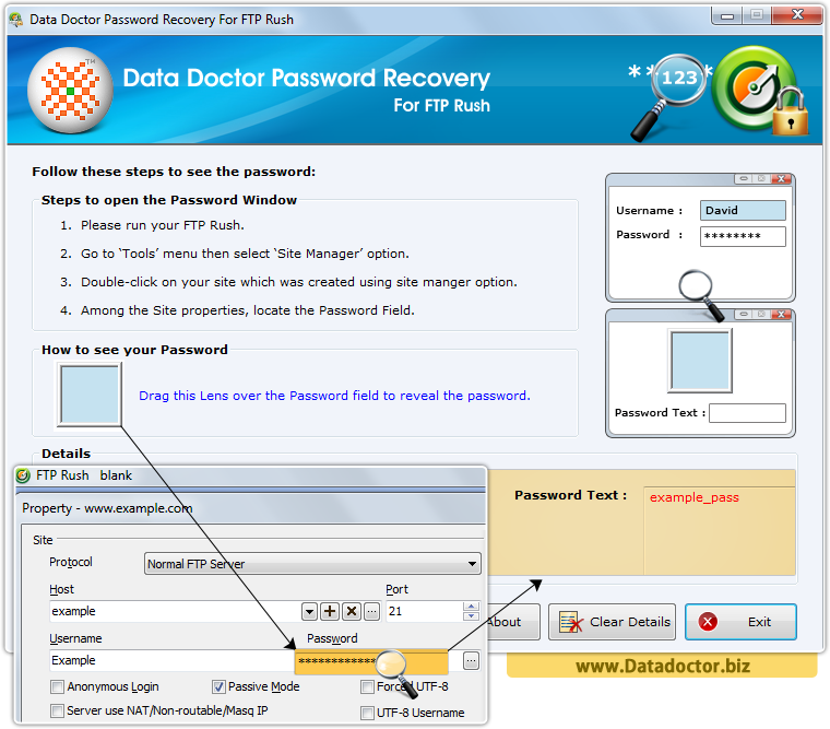 Data Doctor Password Recovery Tool For FTP Rush