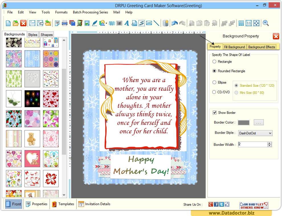 Greeting Card Designing Software | design anniversary New Year cards