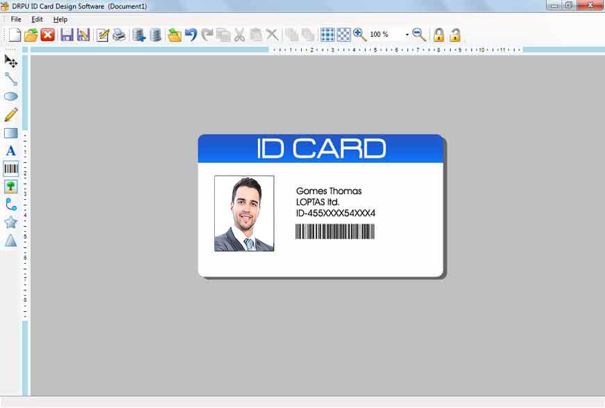 Windows10up.com Download Free Photo ID card maker software custom security card designer student