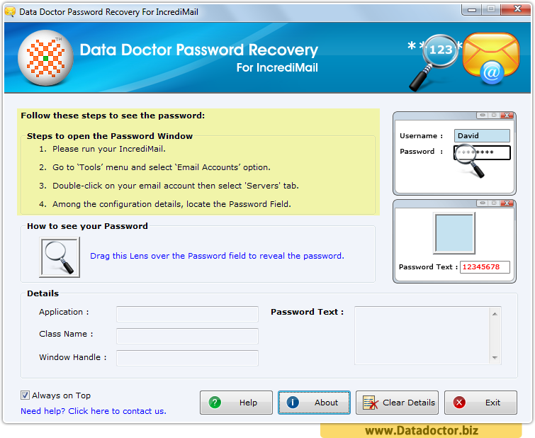 Password Recovery For IncrediMail