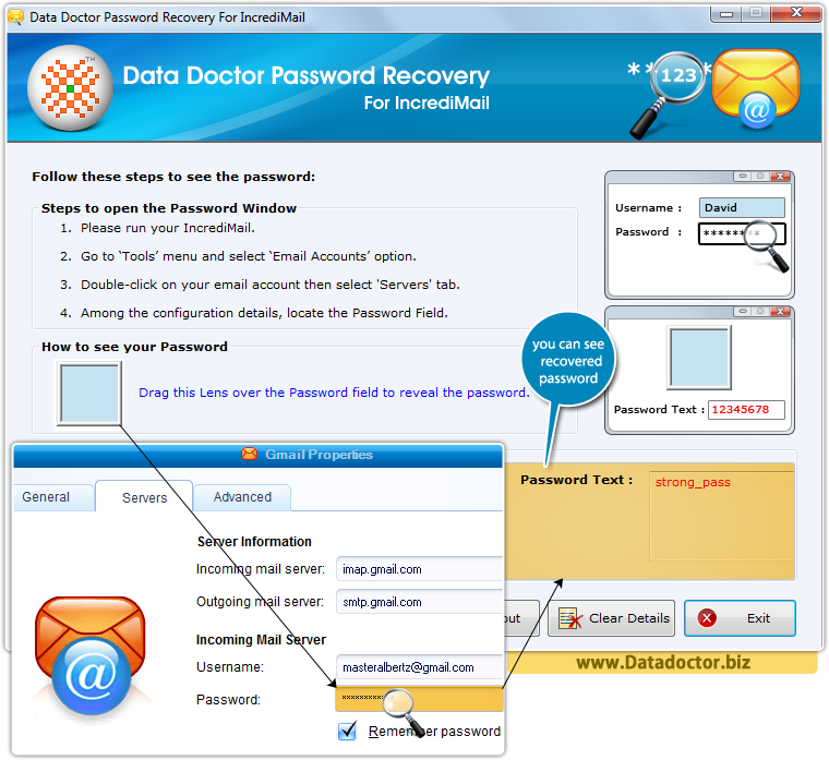 Data Doctor Password Recovery For IncrediMail