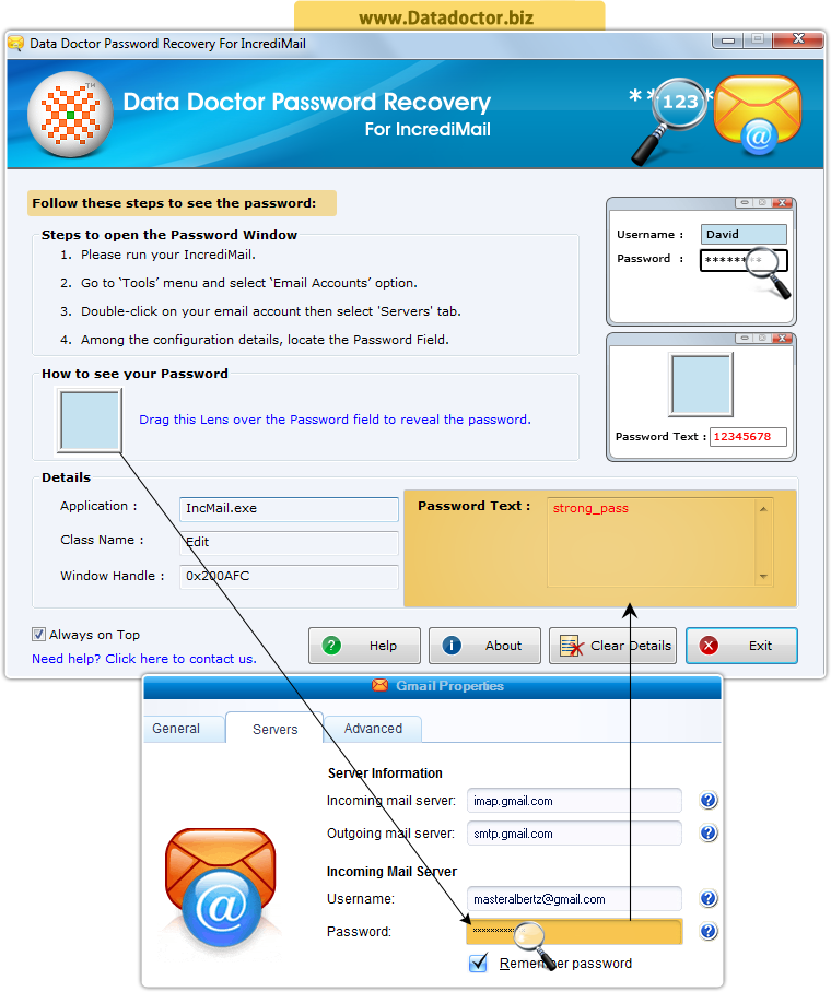 Password Recovery Software For IncrediMail