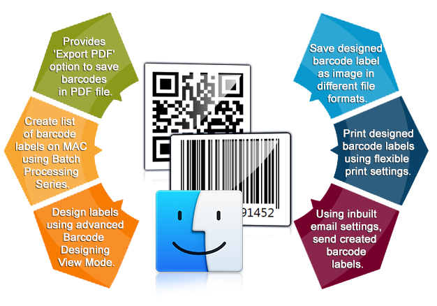 Design barcode labels using MAC Barcode Label Maker