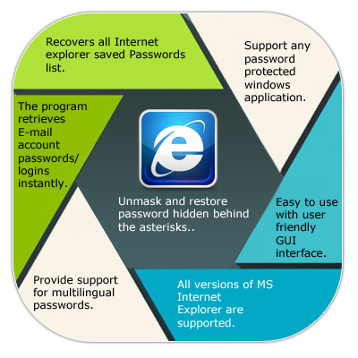 Internet Explorer Password Recovery Features