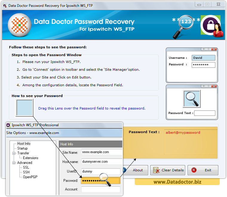 Data Doctor Password Recovery For Ipswitch WS_FTP