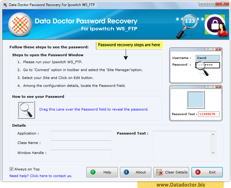 Password Recovery For Ipswitch WS_FTP