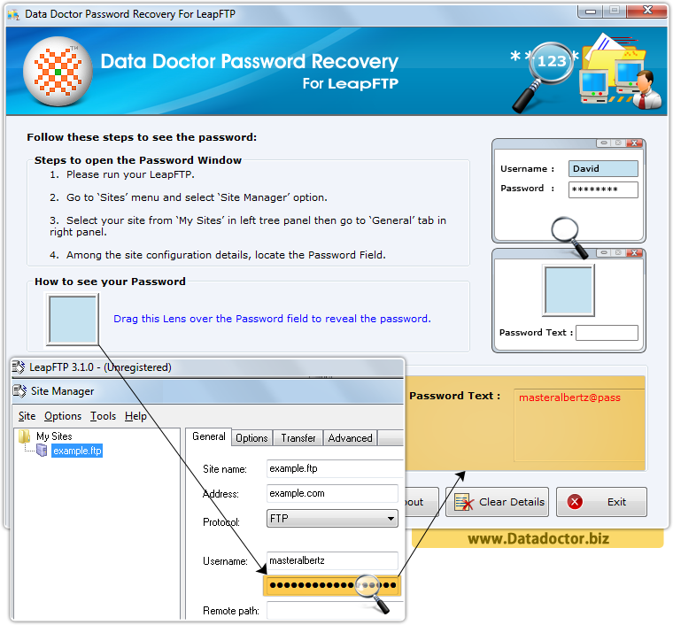 Data Doctor Password Recovery Software For LeapFTP