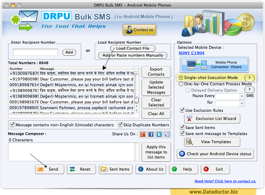 Bulk SMS Software for Android Phones for Mac OS X