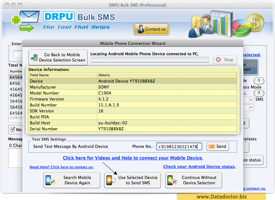 MAC Bulk SMS Software - Professional
