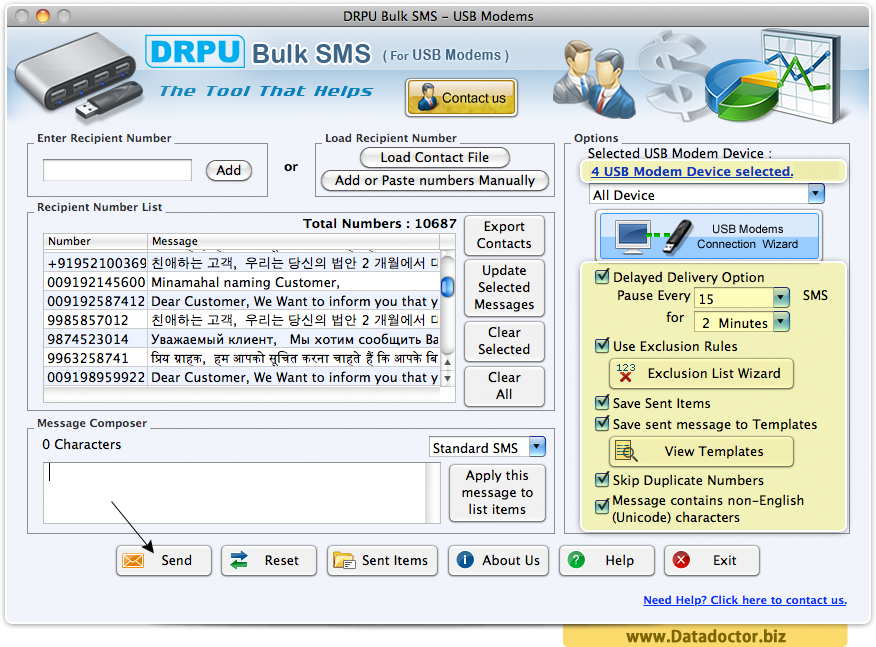 MAC Bulk SMS Software for multi USB Modem