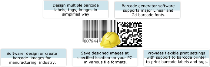 Barcode Label Maker - Industrial Manufacturing Features