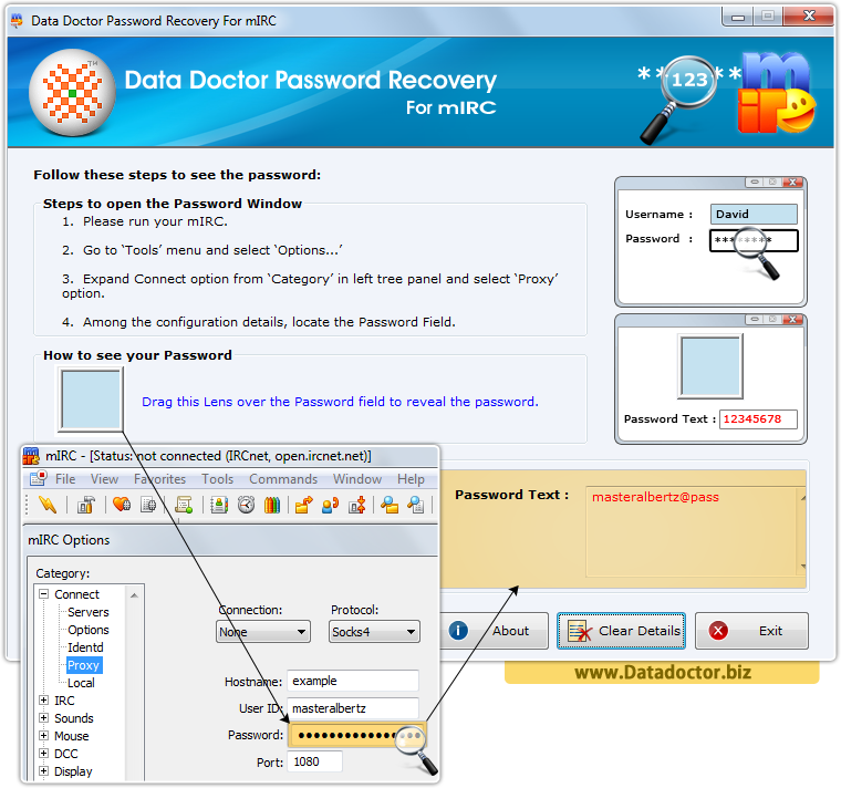 Data Doctor Password Recovery For mIRC