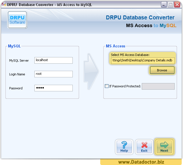 MS Access to MySQL Database Converter Software