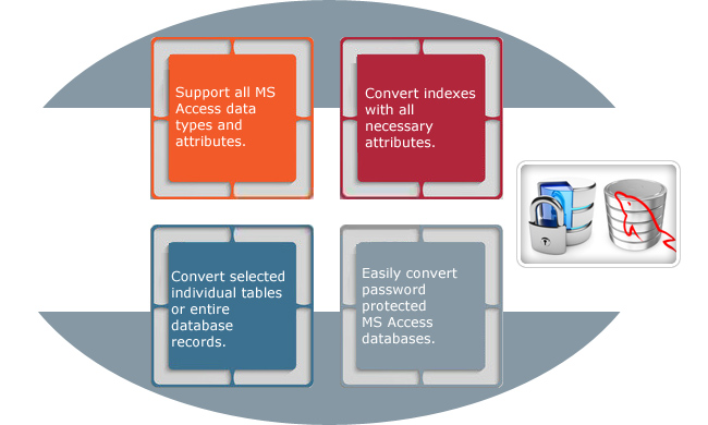 MS Access to MySQL Database Converter Features