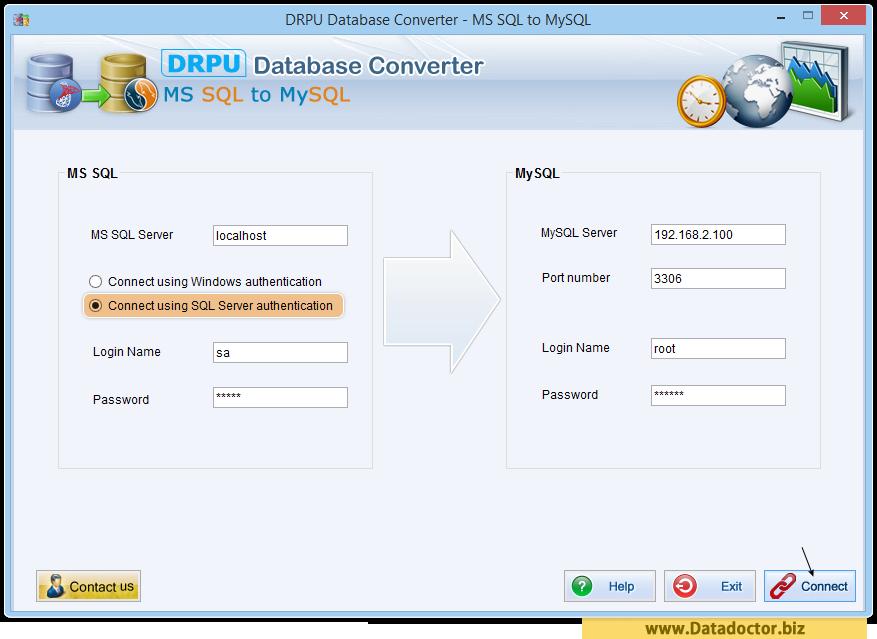 MS SQL to MySQL database converter software | migrate tables