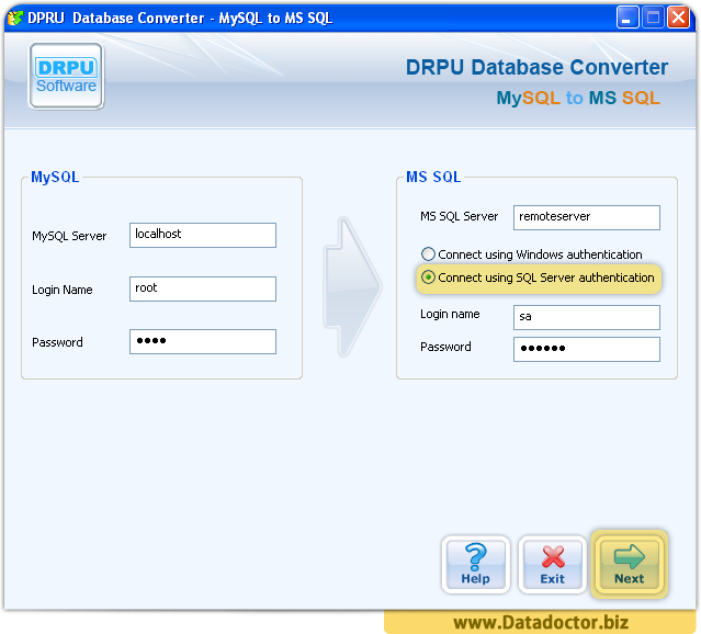 how to connect to mysql server