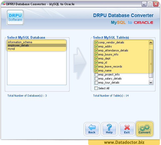 MySQL to Oracle Database Converter Software