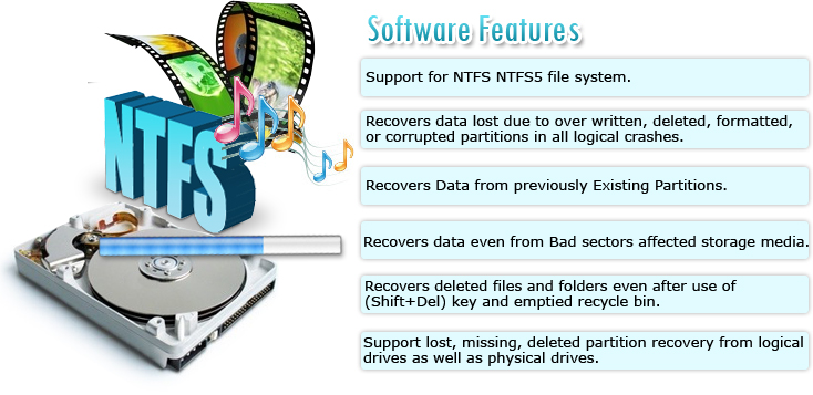 NTFS Data Recovery Software Features
