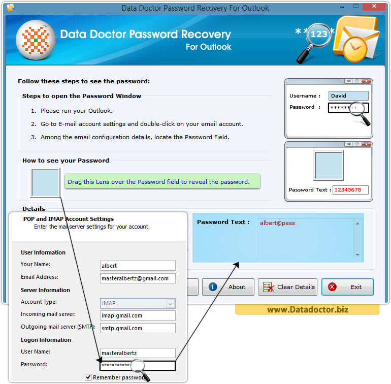 Data Doctor Password Recovery Software For Outlook