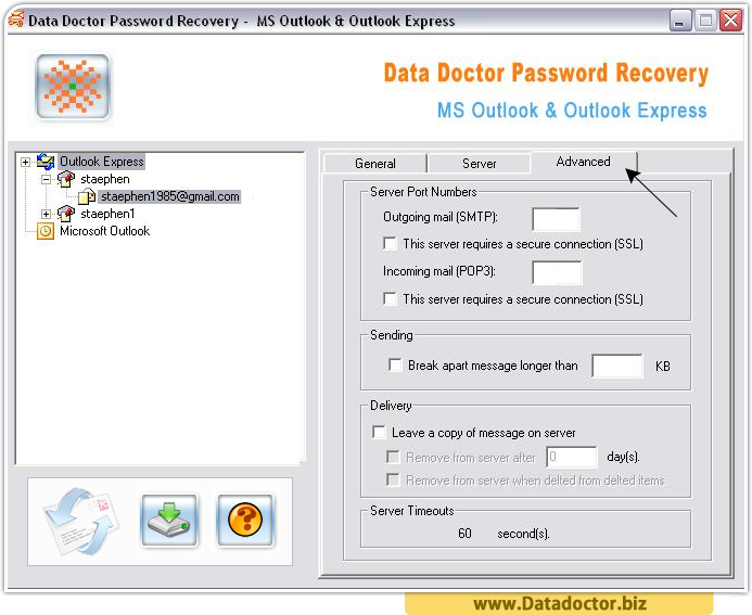 Outlook Express Password Recovery Tool