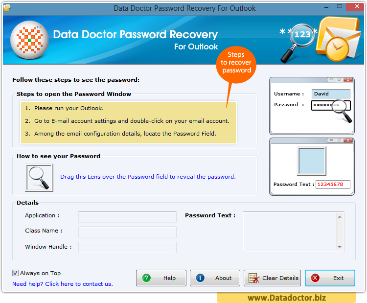 Password Recovery For Outlook