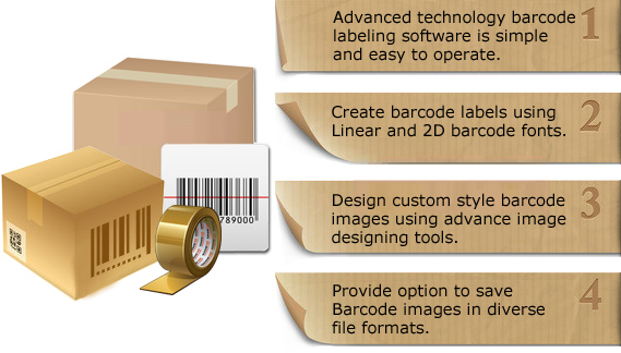 Barcode Label Maker - Packaging Supply Features