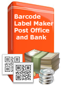 Barcode Label Maker - Post Office and Bank